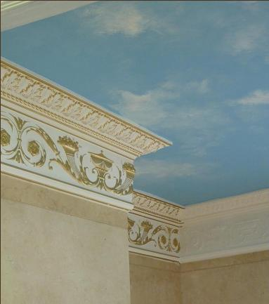 gold detailing on cornice